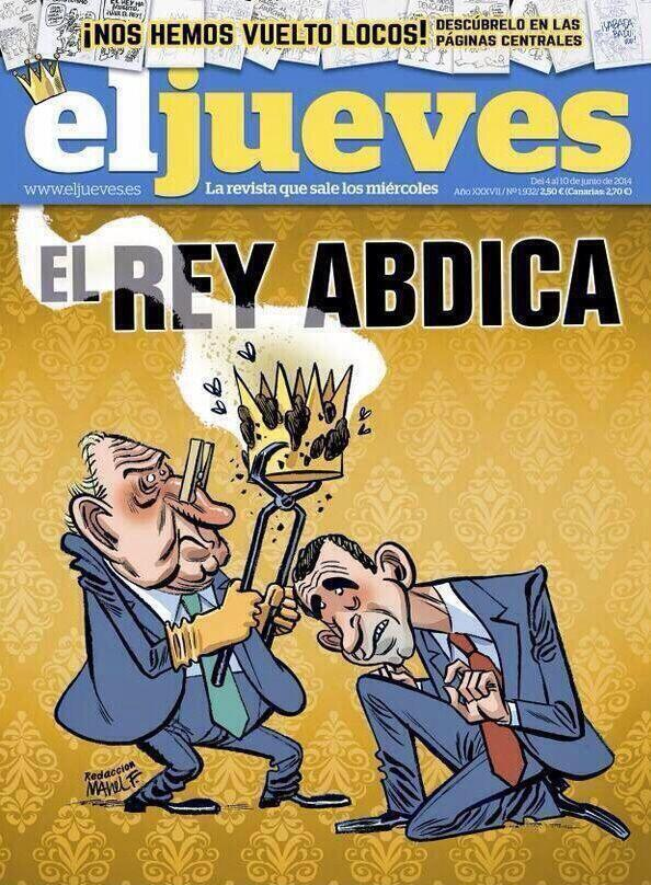 ¿Cómo hacer para que los españoles vean la portada que El Jueves dedicaba al Rey? Censurándola. http://t.co/1IySCN2iid