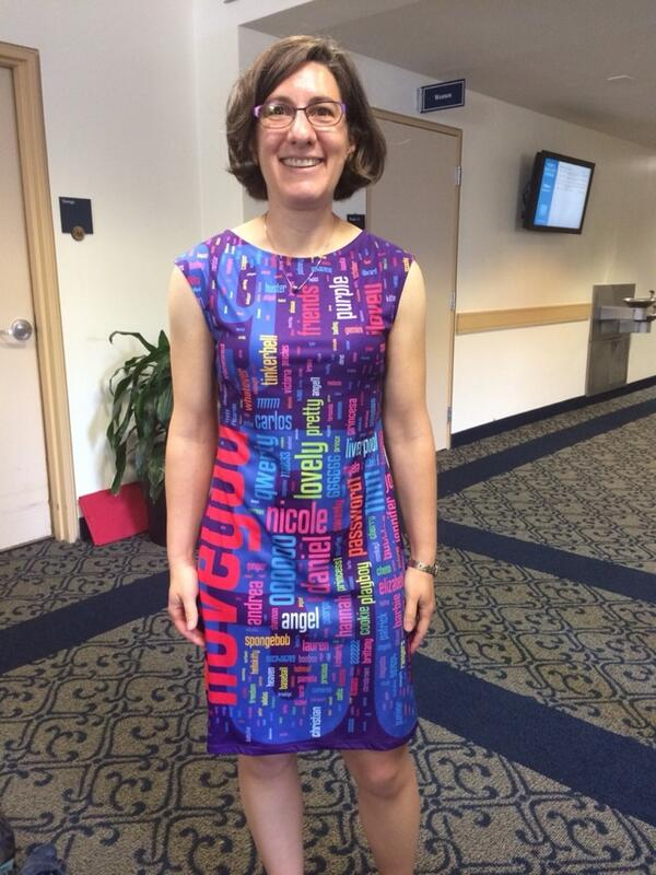 Awesome: @lorrietweet in her dress printed with the most common passwords http://t.co/zbYf0jrhHS