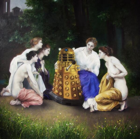 Another of artist Kate Richardson's Dalek old master's... http://t.co/cHAr5YU1xM