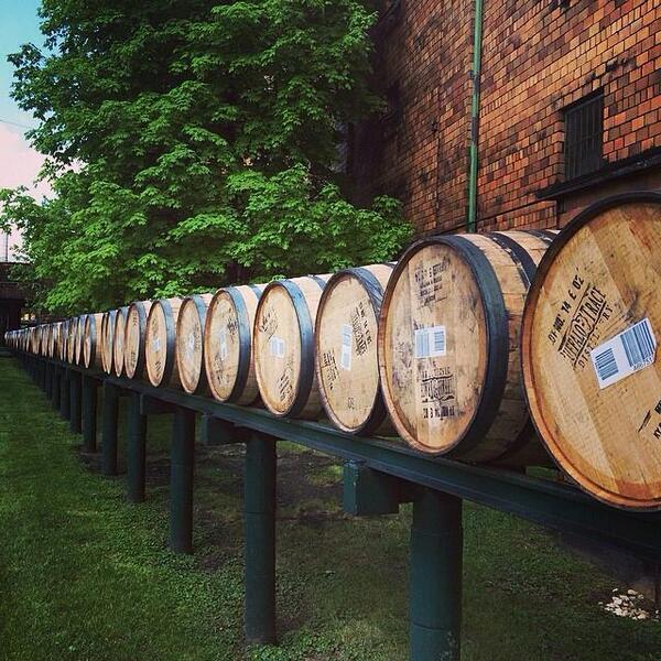 Barrels for days! #BuffaloTrace #bourbon http://t.co/30SSo60qaT