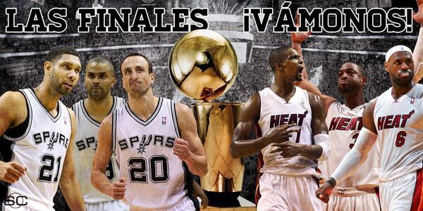 ¡RT si estás emocionado por las Finales de la NBA! Juego 1, Heat vs Spurs, 9pm ET/6pm PT #nbaESPN http://t.co/IAspvovu3m