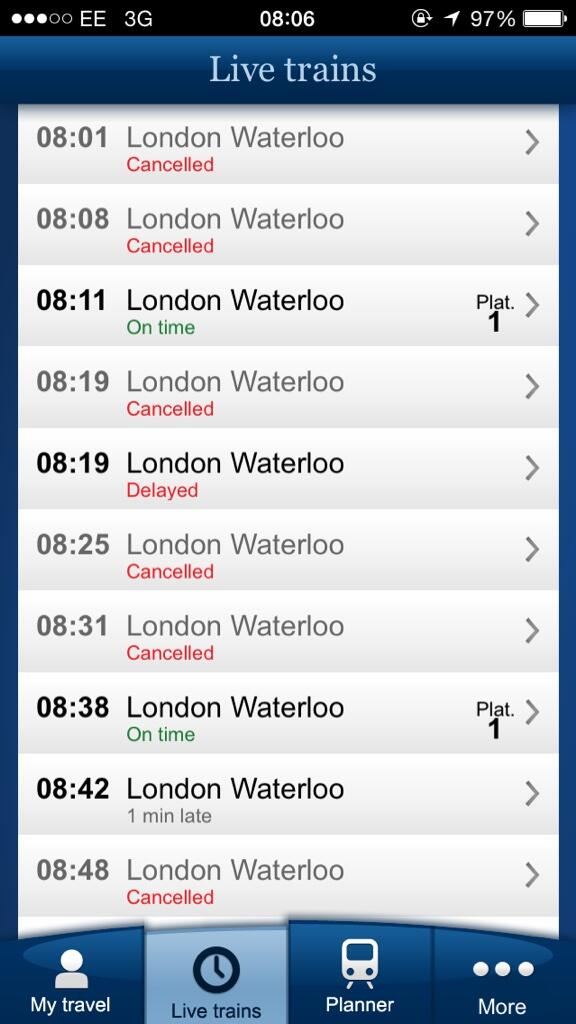 Epic @SW_Trains meltdown this morning straight off the back of last nights meltdown lol #surbiton http://t.co/hSKUiLnd8z