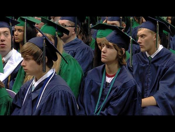 Paralyzed 3 years ago, a Copper Hills grad walked Thursday to receive his diploma. His story: http://t.co/RNyWMdiIAw http://t.co/Wv0rYFh4yN