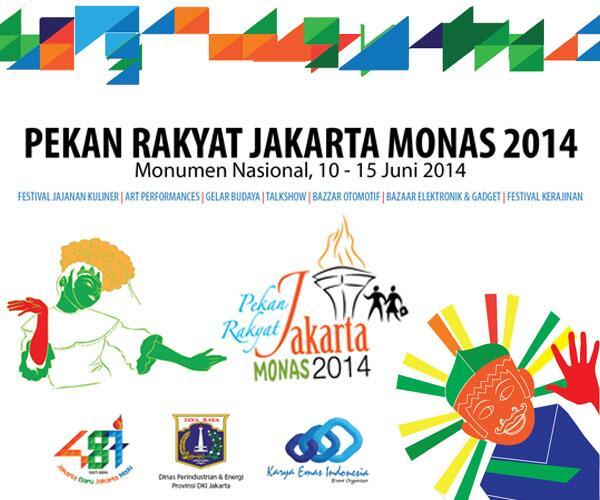 Datang dan kunjungi PRJ (Pekan Rakyat Jakarta) Monas 2014 tanggal 10-15 Juni 2014. Gratis untuk umum. http://t.co/HE4pigzSHx
