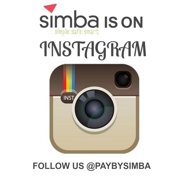 Don't forget to follow us on instagram : @PayBySimba http://t.co/y1lVlham6t