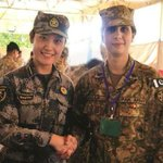 Pakistani and Chinese female military officers during a joint exercise. #LongLivePakChinaFriendship http://t.co/fqgKbMtEZx