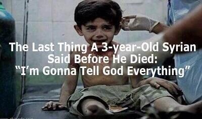 "Suriye'li çocuğun son sözleri: ""Allah'a her şeyi anlatacağım.' @Picswithastory http://t.co/Ib44cDjFBW"