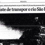 Transposição prometida por D. Pedro e FHC será entregue por #Dilma #PSDBsecouSP http://t.co/vsmPPGip0Y