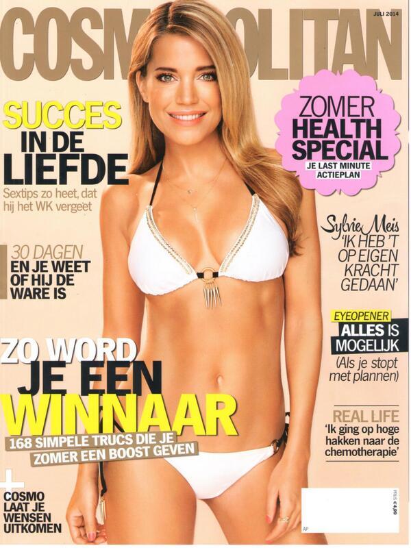 """@Hunkemoller: We LOVE the new Cosmopolitan cover with Sylvie!! @CosmopolitanNL @MissSMeis http://t.co/nQhh4wudVu"""