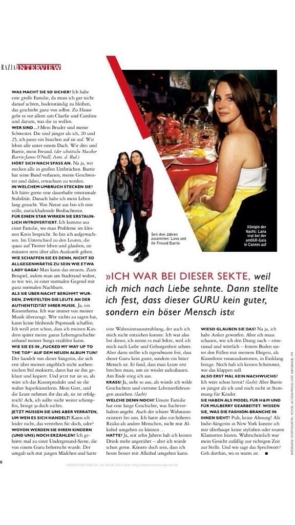 @lanadelrey interview with german magazine 'Grazia' - Part 2 http://pic.twitter.com/FXVEja4FyA