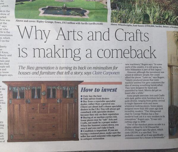 The @standardnews today says 'Ikea generation' turning its back on minimalism for stuff that tells a story. 2 right! http://t.co/yzJ444kms3