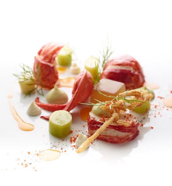 Lobster, leeks, creme fraiche  @RelaisChateaux #Frifoto #RCCuisine #FoodArt #relaischateaux #relaischateaux60 http://t.co/Cu6I6mwx54