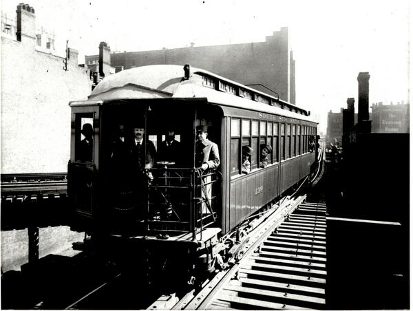 The 'L' turned 122 today! Historic pic of 1st 'L' line testing an important innovation. More: https://t.co/OpN2PeYP8h http://t.co/FJMlQJG7I8