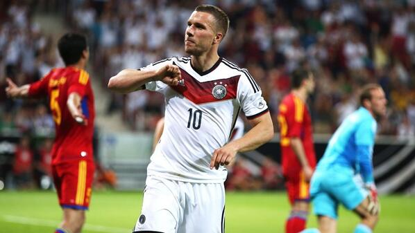Podolski after scoring Germany's second [via @FIFAWorldCup]