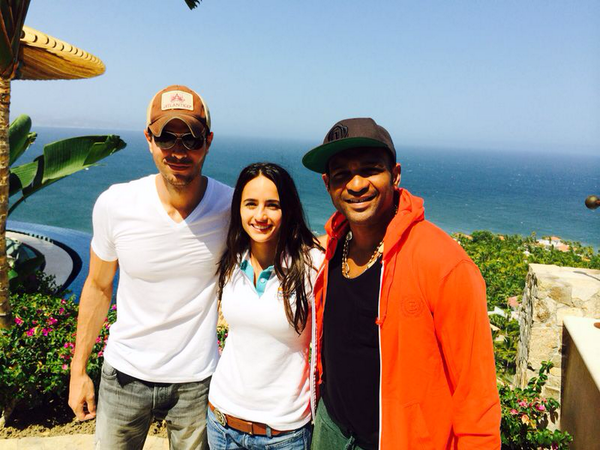 .@enrique305 took a break from his World Tour to check out his development @AlegranzaResort with @Descemer_Bueno http://t.co/s5ZdfH782R