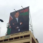"""President @UKenyatta billboard that reads """"Security starts with me. Security starts with you"""". http://t.co/WdJVZ6wch6 <~#Tumechoka"""