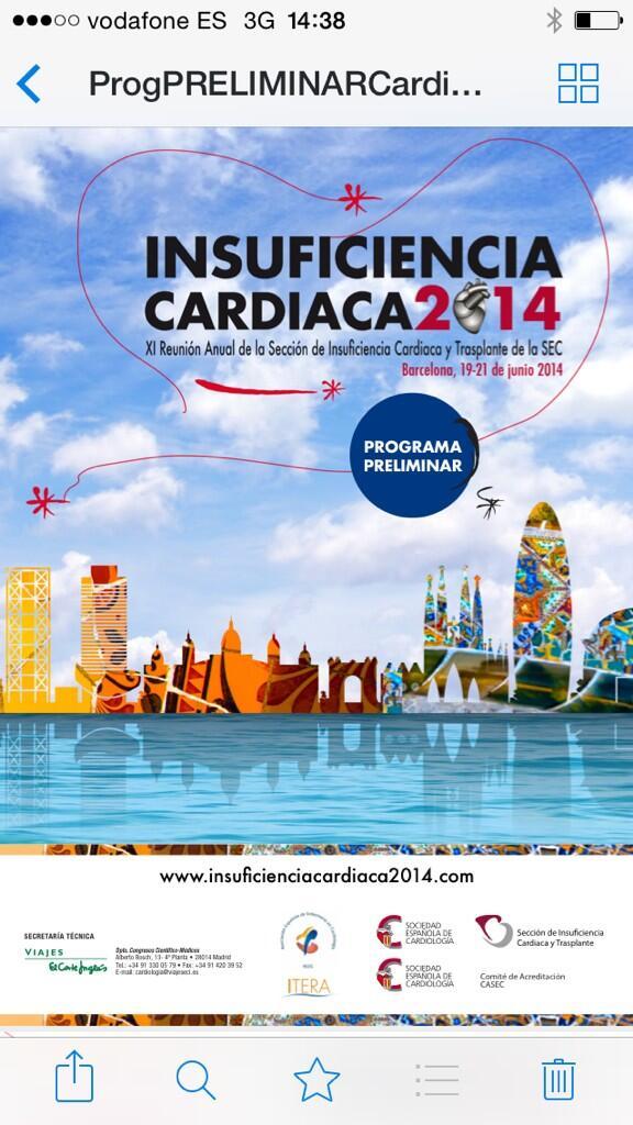 Reunion secc Insuficiencia Cardíaca Talleres estratificación riesgo, comorbilidad, titulación fármacos, soporte VI... http://t.co/RXfizVsqDe