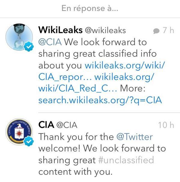 La réponse de @wikileaks à la @CIA http://t.co/EIq2spk7g9