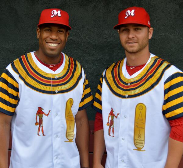 Tonight, the #Redbirds will be sporting gold-and-yellow Egyptian jerseys as we salute Memphis, Egypt. http://t.co/vWwvaqKuST