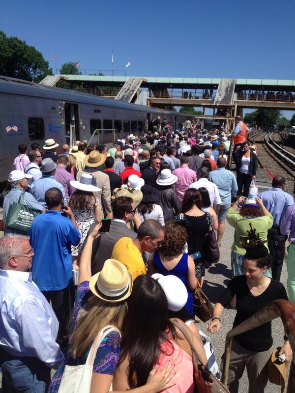 What a day Belmont. Train packed. People pumped. #CaliforniaChrome #TripleCrown2014 http://t.co/0sDo090QDf
