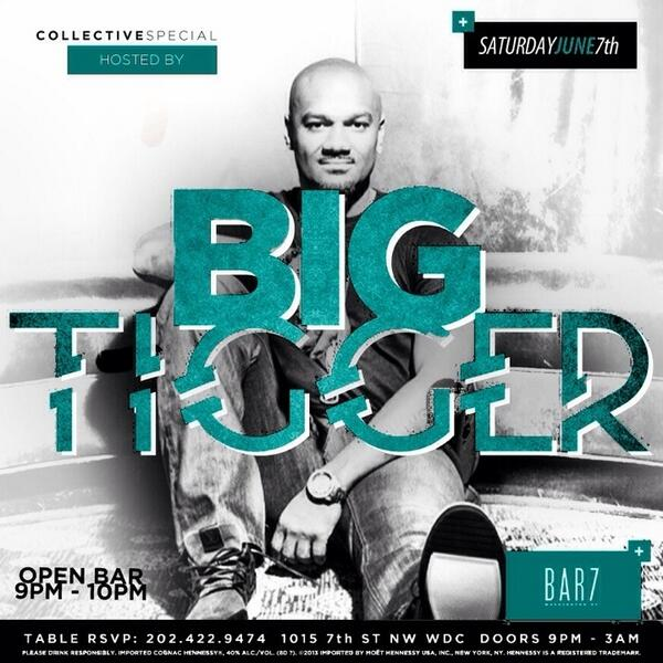 #HappySaturday Make ur next move ur best move! Party w/ @BigTiggerShow tonight! Why not indulge in free drinks?!? http://t.co/uUFFoDDEvl