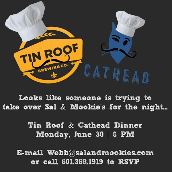 Someone is taking over for the night. Excited to have @TinRoofBeer & @CATHEADVodka host a 6-course dinner June 30th! http://t.co/wx2UN6sY6B