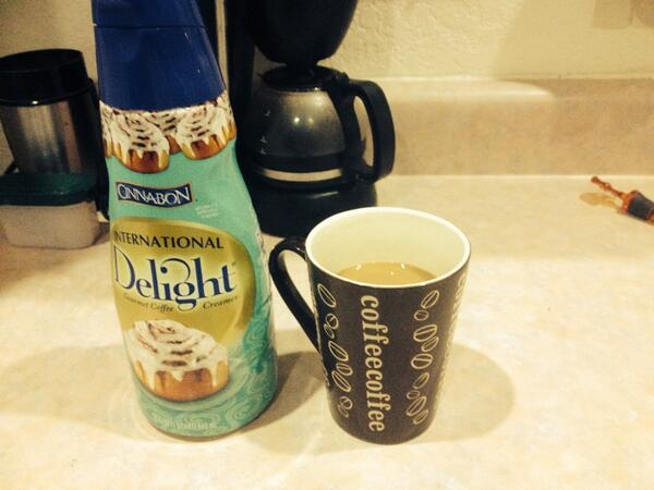 Ahhh now this us the way to start the day #coffee with @Cinnabon @indelight http://t.co/VBXoUQZqz6