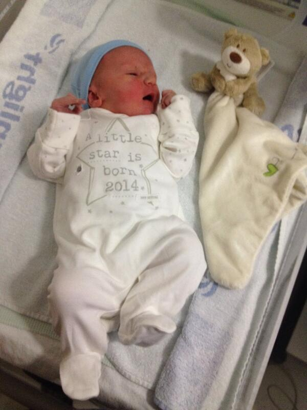 Welcome to the world Jacob David Tudor. Born 7/6/14. Couldn't be any prouder!! #WhosYourDaddy http://t.co/yg1YQ8uCmc