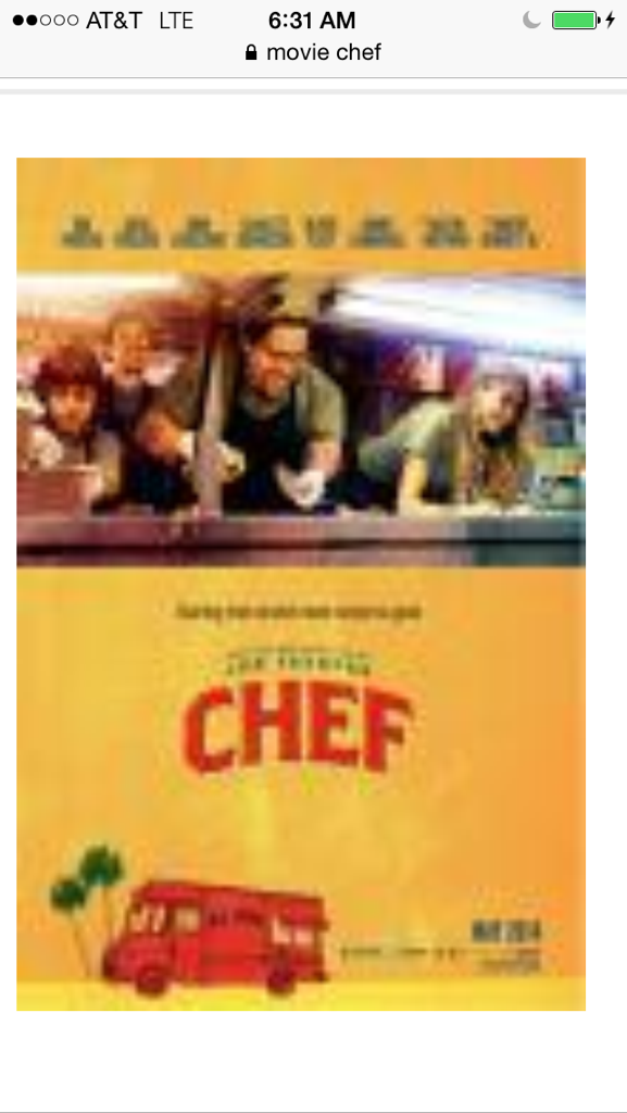 got to catch to see #chef    Movie Last night very funny, brilliant really close to home movie Loved  it @Jonfavreau http://t.co/lDfuI6cifu