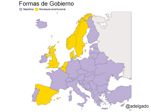 Monarquía vs República en Europa http://t.co/lbF6gNFMJ3