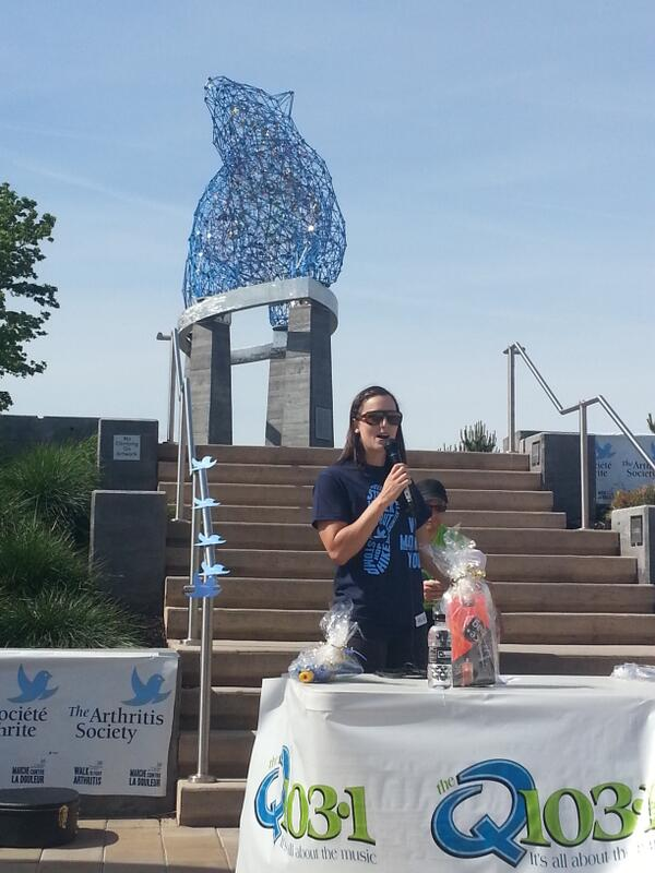 Did you know @kelseyserwa has #arthritis? #whomovesyou #walktofightarthritis #kelownawalk http://t.co/pC95PhD3Ld