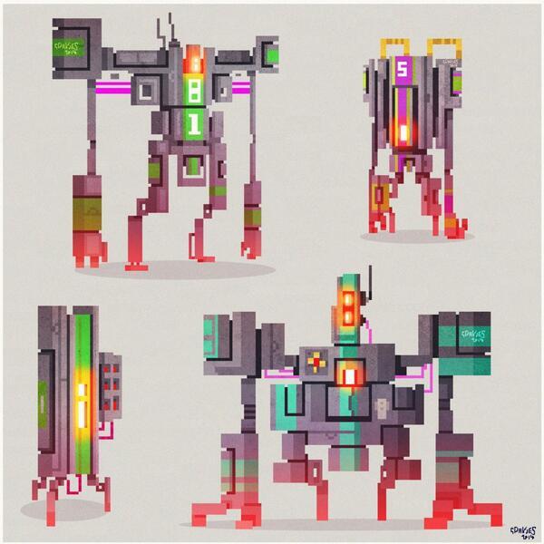 More pixel bots #doodle #pixelart #pixels http://t.co/tkdZse9Hfe