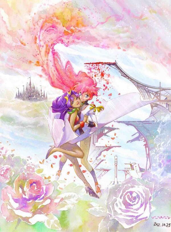 声優川上とも子さんの命日と言うことで、あり物のウテナ画ですが追悼(もう3年か) http://t.co/umhFR4GIxy