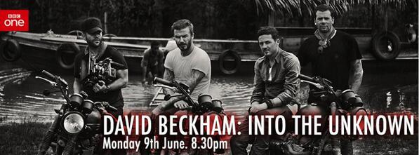 "Watch Tomorrow night on @BBCOne at 8:30PM #DavidBeckham ""Into The Unknown."" http://t.co/KiV9sQAViN"