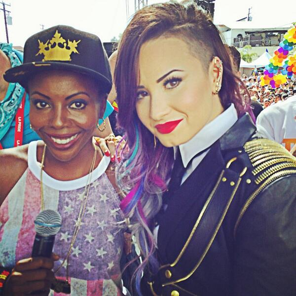 Much love to our Grand Marshall Demi Lovato @ddlovato who is a great advocate for Equality. #noh8 #lapride #weho http://t.co/bYJyqncL0f