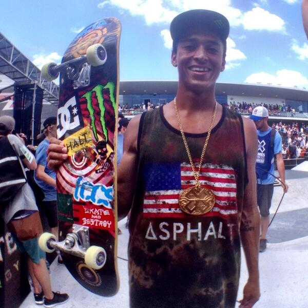 Congrats to @Nyjah_Huston on another @XGames Gold in Skateboarding Street! http://t.co/jopNqqEvEJ