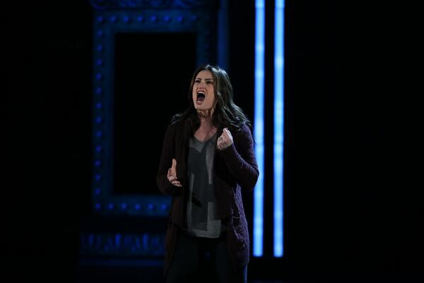 "Photo: @idinamenzel performs a song from ""If/Then"" (Sara Krulwich/NYT) #TonyAwards http://t.co/xyOEhiNPE0"