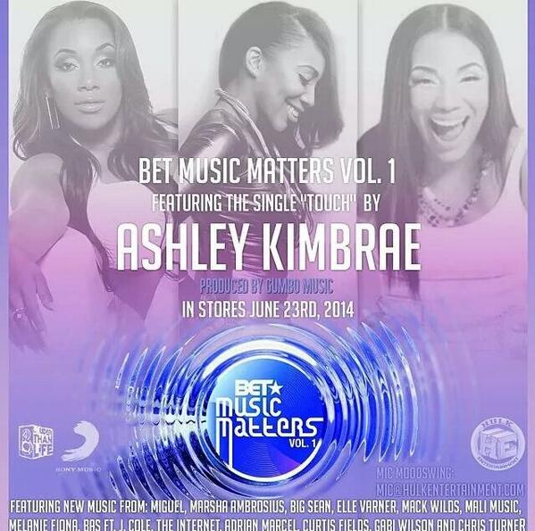 @AshleyKimbrae & @gumbo_music on da new @BETMusicMatters album #MusicMattersVol1 Nstores Jun23 http://t.co/GNbaESe9IM http://t.co/DmsKQLcLj3