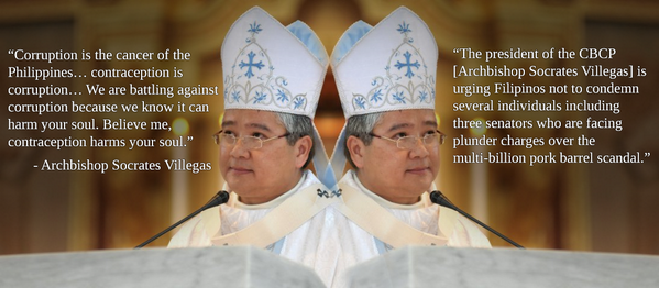 CBCP says contraception is corruption and corruption harms your soul. But PDAF corruption? Can't condemn that! http://t.co/ukjc1XxlQz