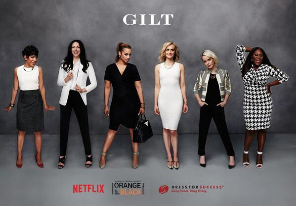 This just in: the @OITNB ladies hit up a job fair and Gilt's giving them a work-ready look. http://t.co/J5IiswspDH http://t.co/9QRg4rzkew