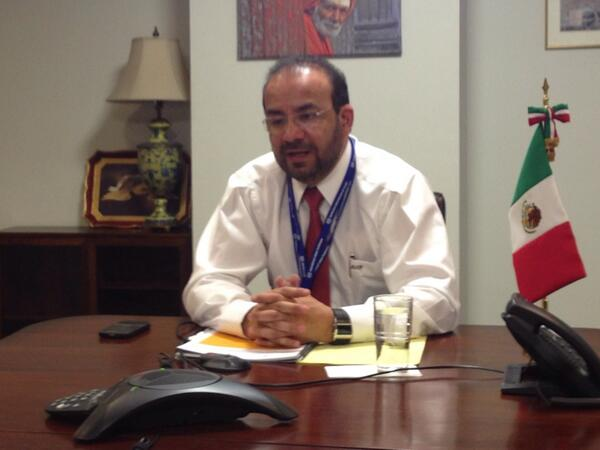 Desde la @MisionMexOI, Srio. @NavarretePrida platica vía telefónica  con periodistas sobre participación en #CIT2014 http://t.co/VOW4AvPC9C