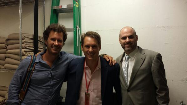 Honored to be with Blake Mycoskie and @kenradio after a truly great speech by Blake!  #ventSFO http://t.co/TGDex46hmG