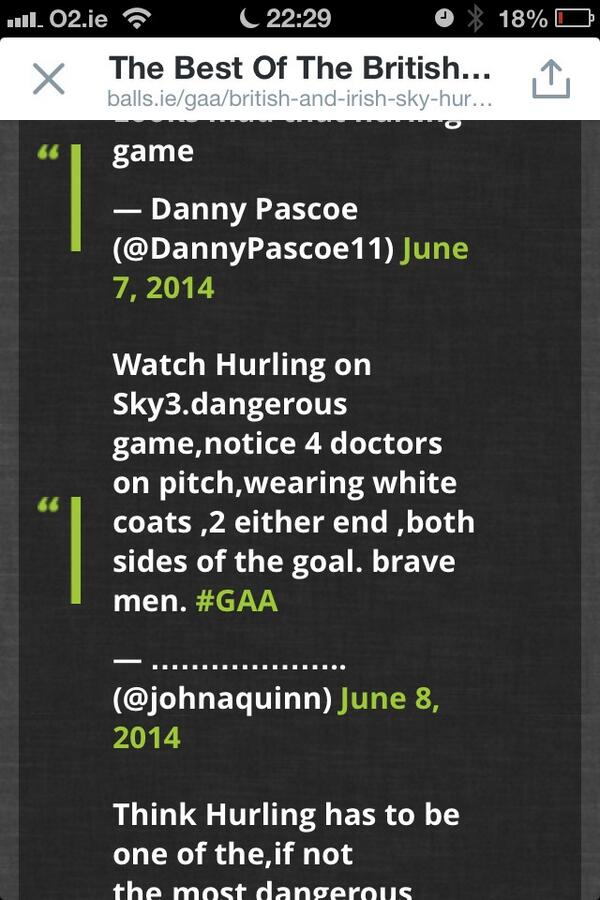Best UK tweet yet on #SKYGAA via @ballsdotie #Umpires4Doctors http://t.co/6Sf2quDJNW
