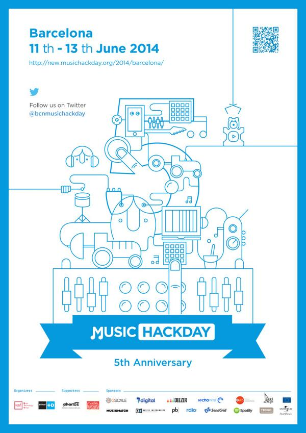 Barcelona #MusicHackDay has a new poster. What do you think about it?  // @mtg_upf @Sonar_D http://t.co/o3EwGRrIcl http://t.co/J0hAZD3RfX