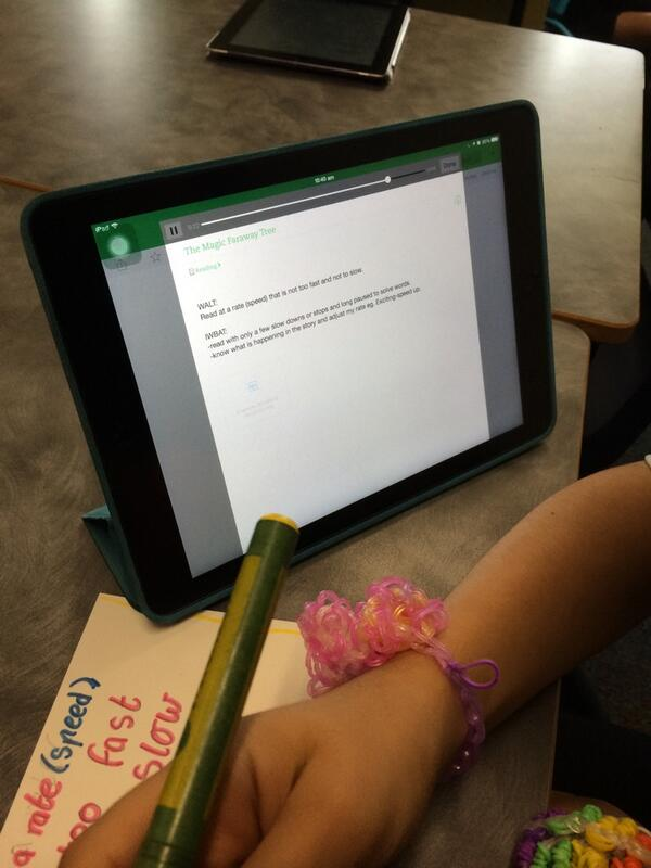 Reading fluency practice this morning- using @evernote to record reading and identify strengths & goals. #evernote http://t.co/OlKj1wkJwu