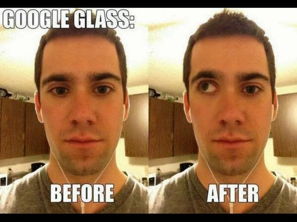 Google Glass: before and after http://t.co/aOACbMo2mj