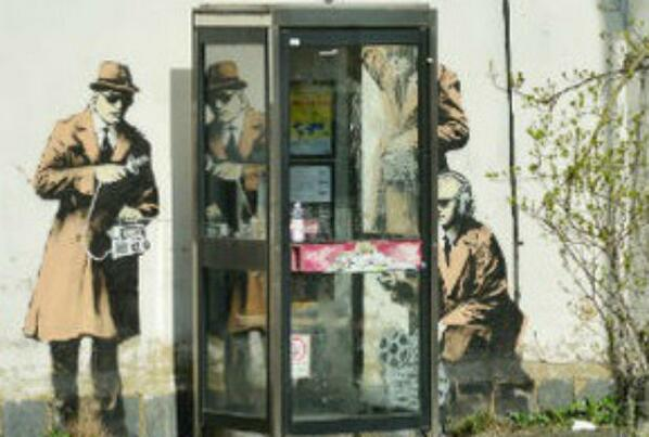 #Banksy confirms #Cheltenham spybooth is his work http://t.co/3cwqWUKe8p http://t.co/tycE5BT5n6