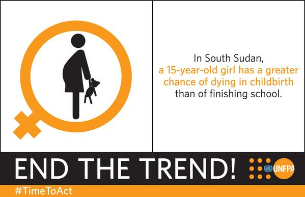 Something's wrong when a 15-year-old has a bigger chance of dying in childbirth than finishing school. #TimeToAct http://t.co/UqRmFrkgbO