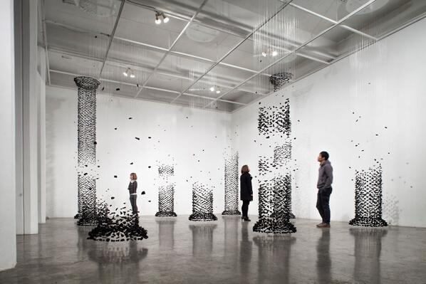 """@terrinakamura: Columns Made from Suspended Charcoal— http://t.co/XwCvLHtmTE #Art #Architecture http://t.co/WpZL2beV3m"""