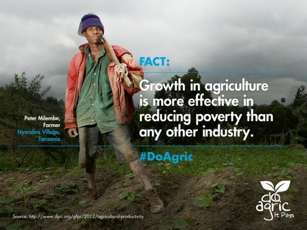 Growth in agriculture is more effective in reducing poverty than any other industry #doagric http://t.co/Gi8kFfifYk